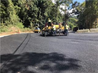 Trabajos Asfalto carretera, estacionamiento