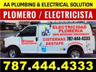 Plomero / Electricista / Handyman  787-444-4333 Clasificados Online  Puerto Rico