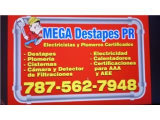SERVICIO DESTAPES PLOMERIA Y ELECTRICIDAD