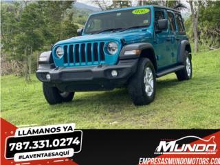 Jeep Wrangler 2020, Custom- aros, susp. , Jeep Puerto Rico